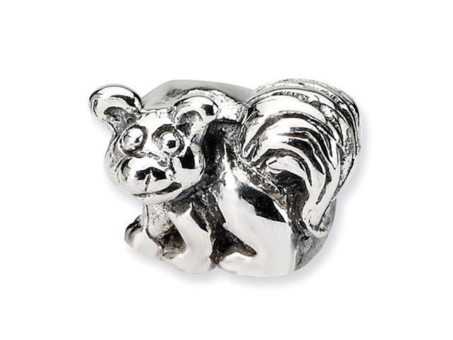 "925 Sterling Silver 1/4"" Kids Charm Animal Raccoon Bead"