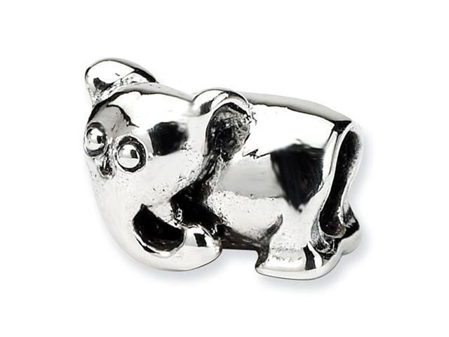 "925 Sterling Silver 1/4"" Kids Elephant Jewelry Bead"