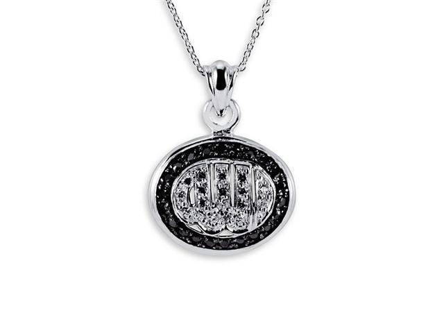 .925 Sterling Silver Oval Islamic Muslim CZ Necklace
