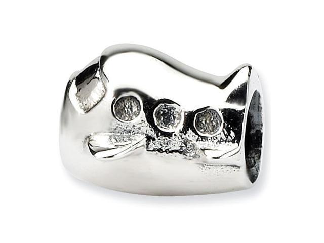"""925 Sterling Silver 3/8"""" Kids Child Charm Airplane Bead"""