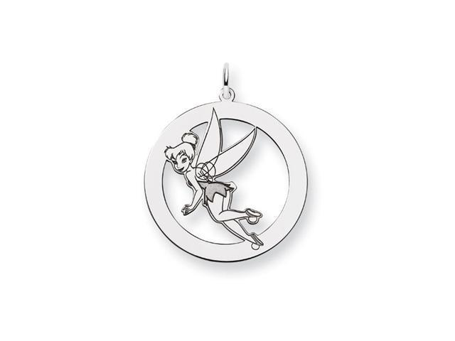 Sterling Silver Authentic Disney Tinkerbell Round Charm