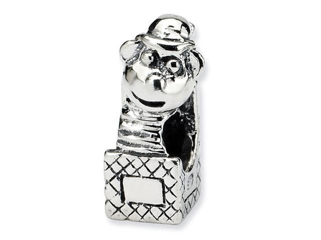 925 Sterling Silver Kids Charm Jack in the Box Bead