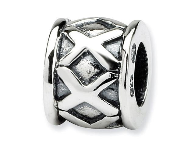 Solid 925 Sterling Silver Charm X Bali Jewelry Bead