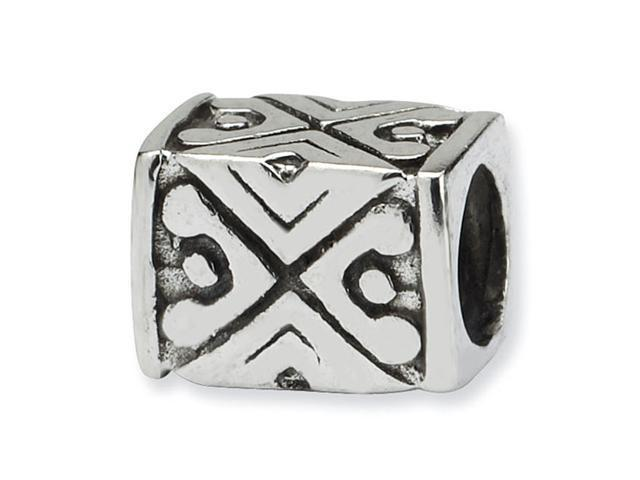 Solid 925 Sterling Silver Tribal Design Charm Bali Bead