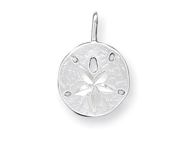 925 Sterling Silver Sand Dollar Sea Star Charm Pendant
