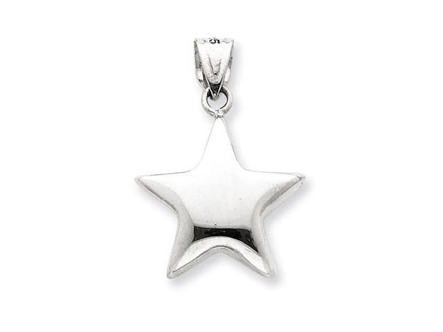 925 Sterling Silver Polished Puffy Star Charm Pendant