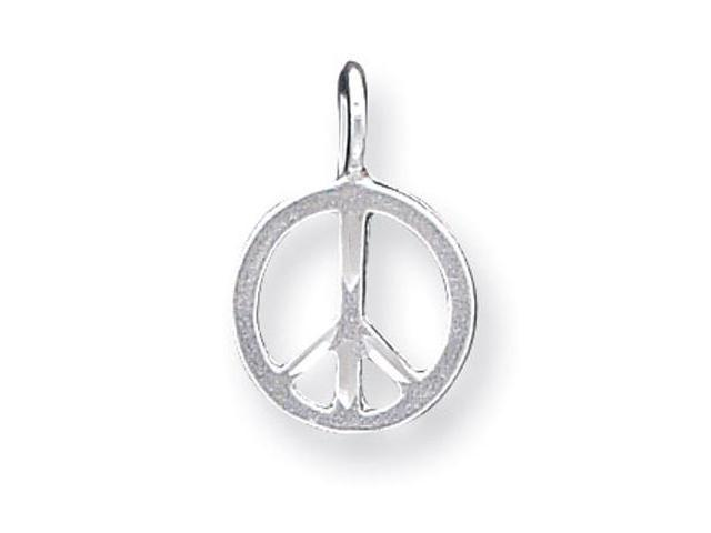 925 Sterling Silver Solid Small Peace Charm Pendant