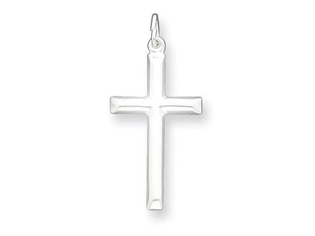 925 Sterling Silver Religious Polished Cross Pendant