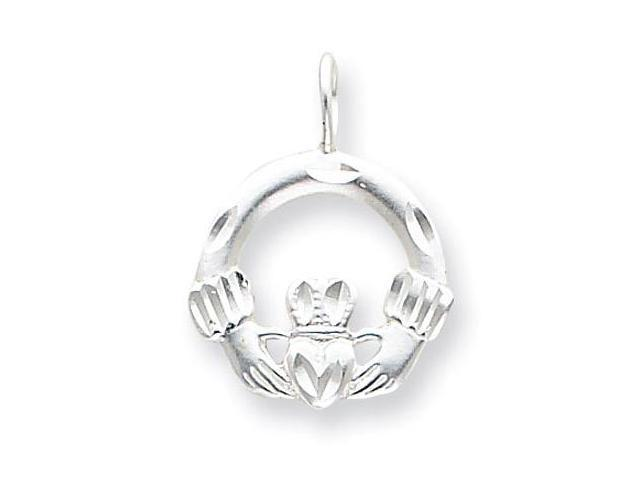 925 Sterling Silver Claddagh Heart Love Charm Pendant