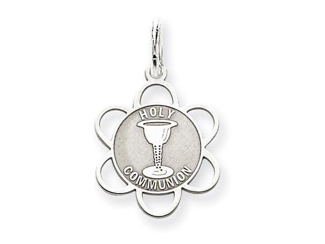 925 Sterling Silver Holy Communion Flower Charm Pendant