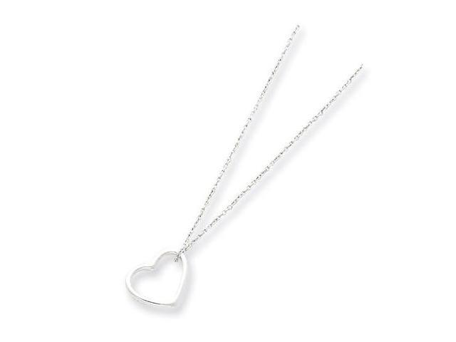 925 Sterling Silver Cut Out Heart Love Chain Necklace