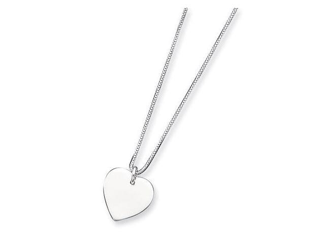 925 Sterling Silver Snake Chain Heart Pendant Necklace