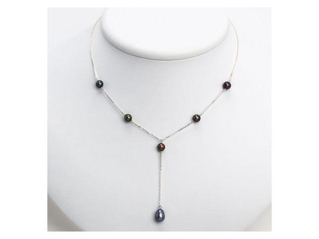 925 Sterling Silver Peacock Cultured Pearls Necklace