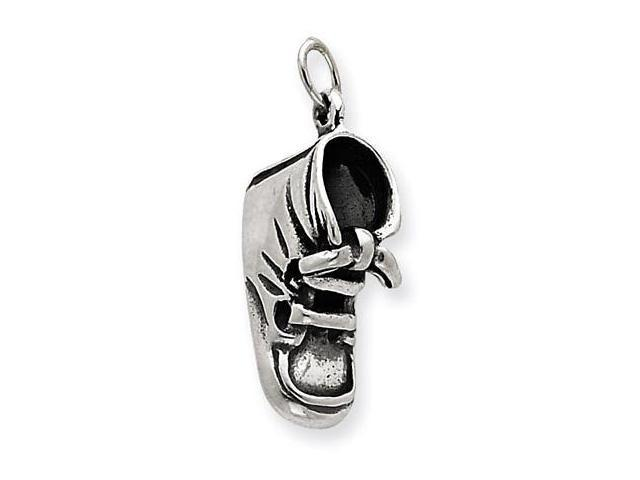 925 Sterling Silver Baby Shoe Booties Charm Pendant