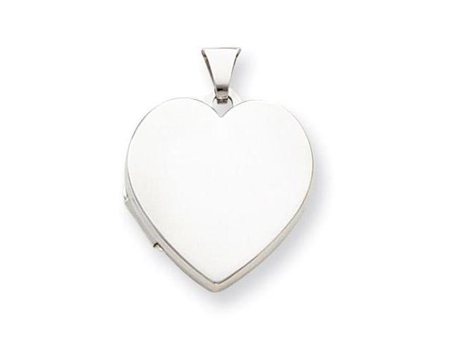 925 Sterling Silver Polished Heart Charm Pendant Locket