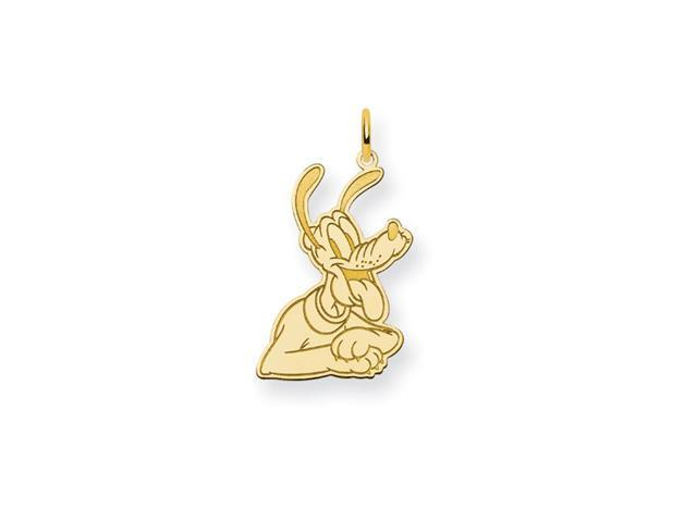14K Gold Over Solid Silver 5/8 Inch Disney Pluto Charm