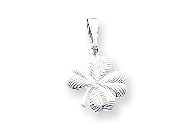 925 Sterling Silver Good Luck Four Leaf Clover Pendant