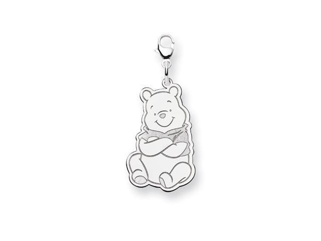 .925 Sterling Silver 5/8 Inch Disney Winnie Pooh Charm