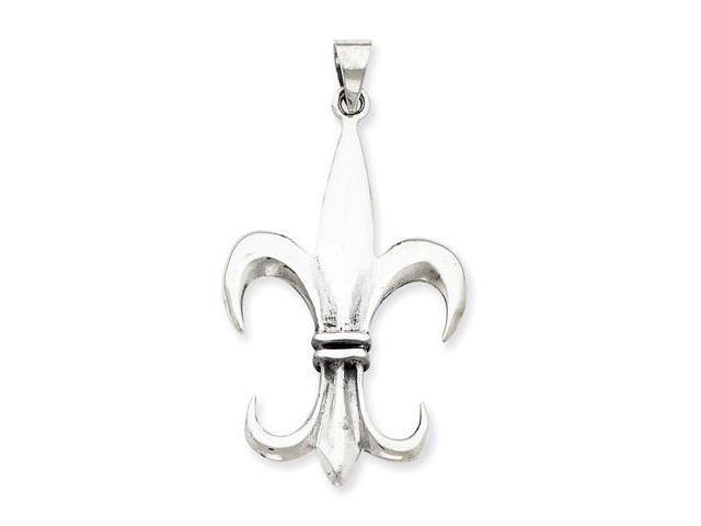 925 Sterling Silver Polished Fleur de lis Charm Pendant