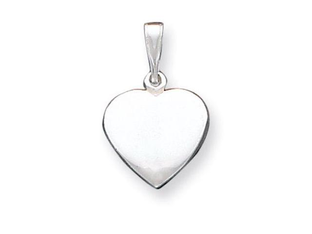 925 Sterling Silver Solid Heart Love Tag Charm Pendant