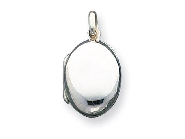 925 Sterling Silver Oval Polished Locket Charm Pendant