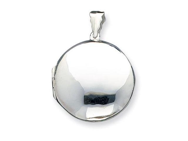925 Sterling Silver Puffy Round Polished Locket Pendant