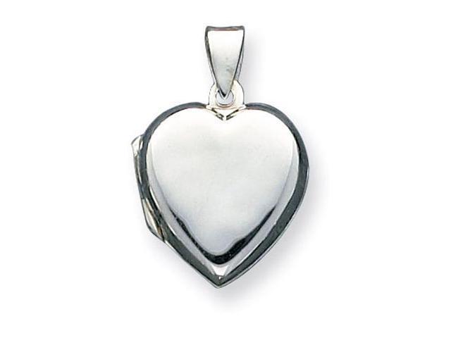 925 Sterling Silver Polished Heart Locket Charm Pendant