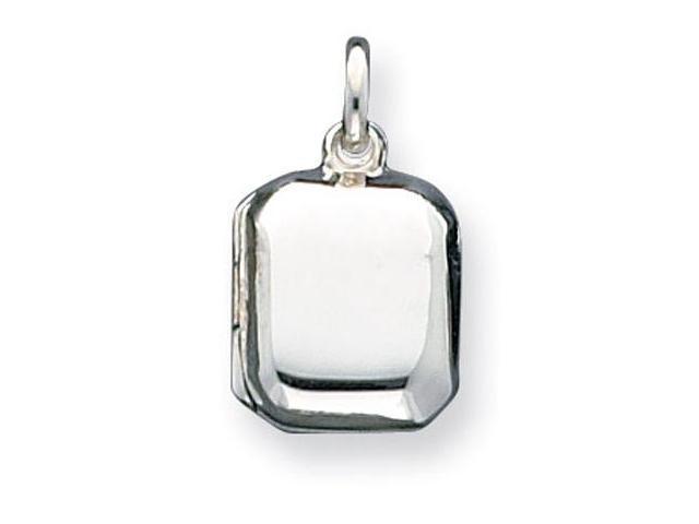 925 Sterling Silver Polished Square Locket Pendant