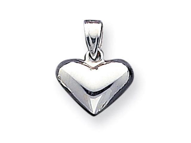 925 Sterling Silver Heart Love Puffy Charm Pendant