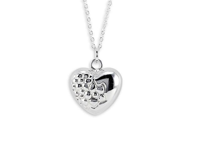925 Sterling Silver New Heart Pendant Charm Necklace