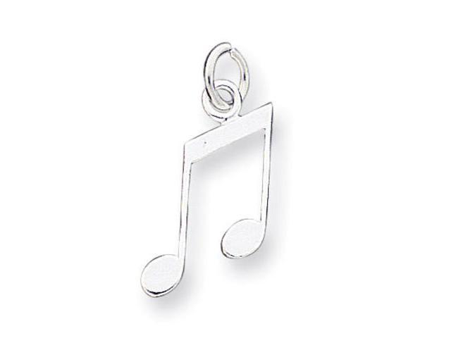 925 Sterling Silver Open Musical Music Bar Note Charm