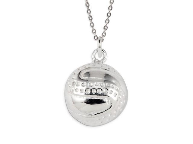 .925 Sterling Silver Tennis Ball Sports Charm Pendant