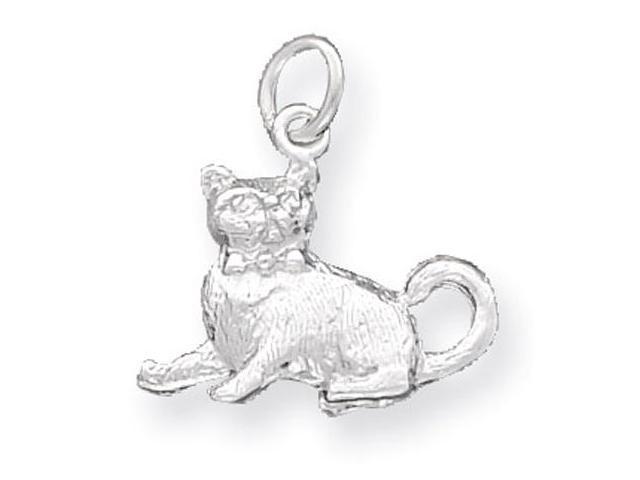 925 Sterling Silver Kitten Kitty Cat Charm Pendant