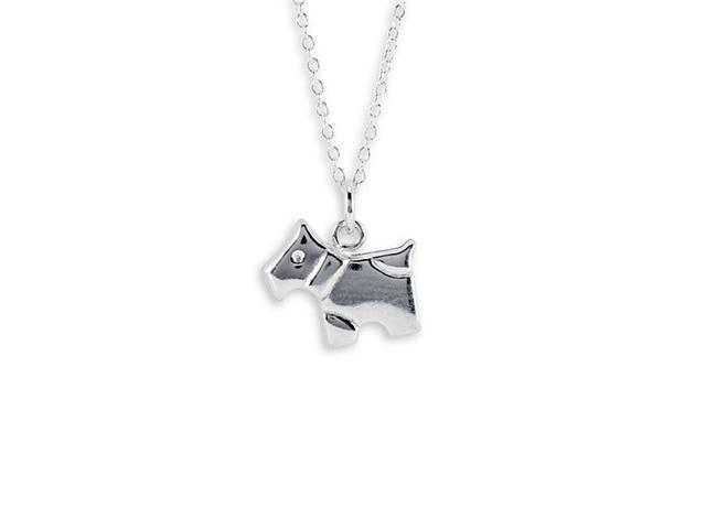 New 925 Sterling Silver Dog Pet Charm Pendant Necklace