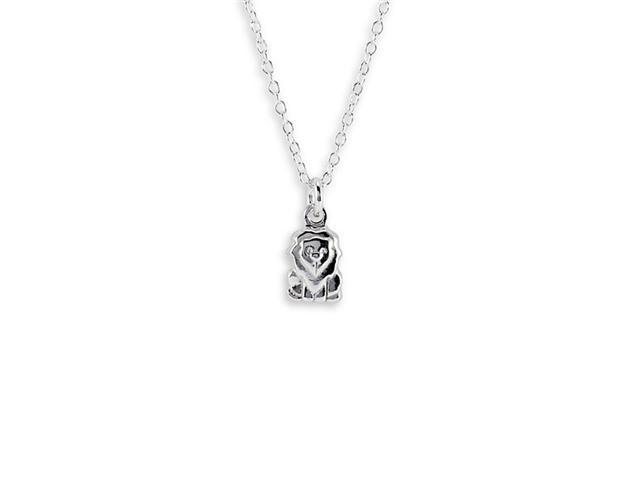 New .925 Sterling Silver Lion Pendant Charm Necklace