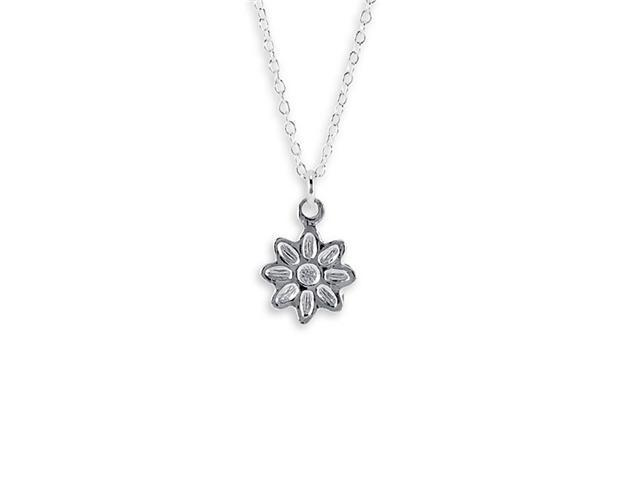 New .925 Sterling Silver Chain Daisy Pendant Necklace