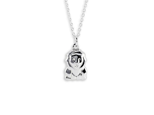 New 925 Sterling Silver Lion Pendant Charm Necklace