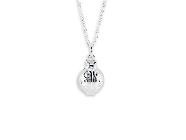New 925 Sterling Silver Lady Bug Pendant Charm Necklace
