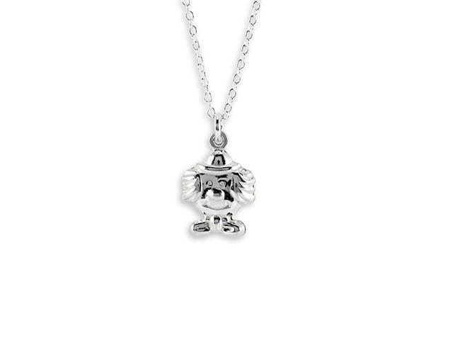 New 925 Sterling Silver Pendant Charm Clown Necklace