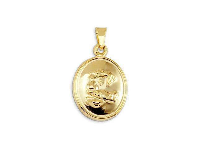 14k Yellow Gold Bonded Christian Religious Holy Pendant