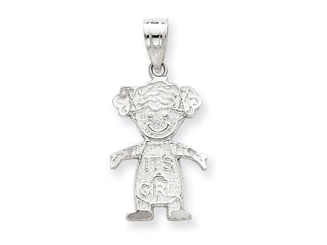 925 Sterling Silver Its A Girl New Baby Charm Pendant