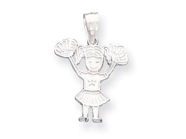 925 Sterling Silver Sports Star Cheerleader Cheer Charm