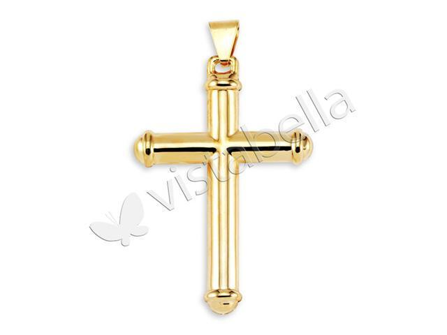 10k Bonded Gold Ring End Gorgeous Cross Charm Pendant