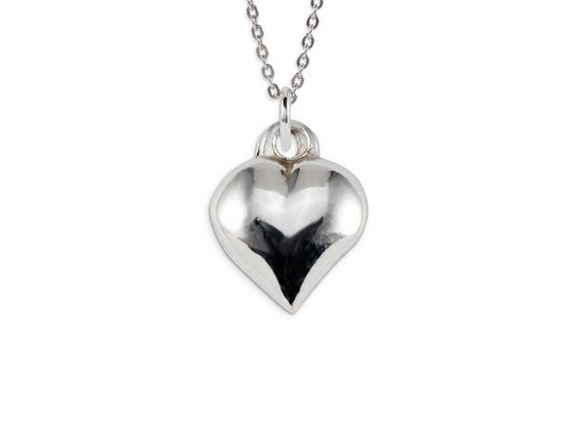 Polished .925 Sterling Silver Heart Love Charm Pendant