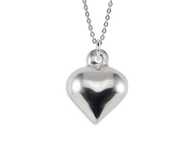 Polished .925 Sterling Silver Love Heart Charm Pendant