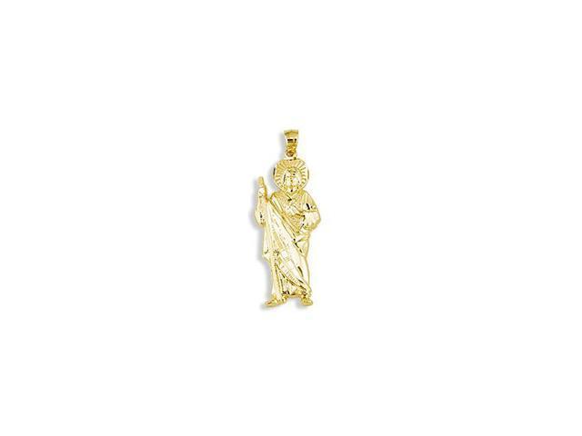14k Yellow Gold Saint Jude Thaddeus Religious Pendant
