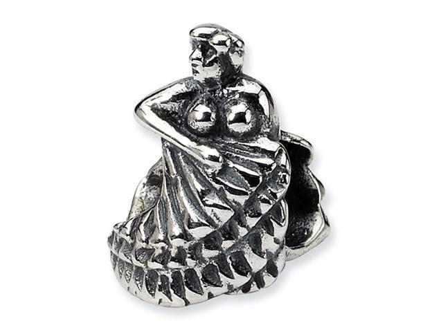 "925 Sterling Silver Charm 3/8"" Flamenco Dancer Bead"