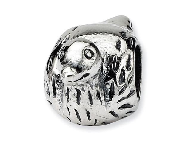 "Solid 925 Sterling Silver Bird Duck 3/8"" Jewelry Bead"
