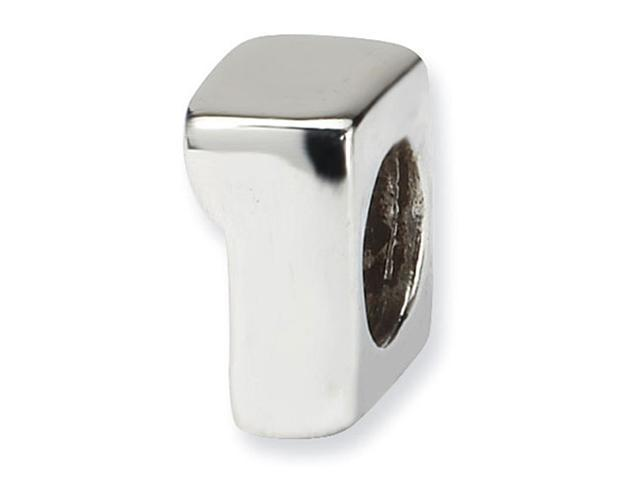 """925 Sterling Silver 1/4"""" Kids Numeral 1 One Charm Bead"""