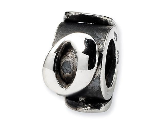 "925 Sterling Silver 3/8"" Number 0 Message Jewelry Bead"